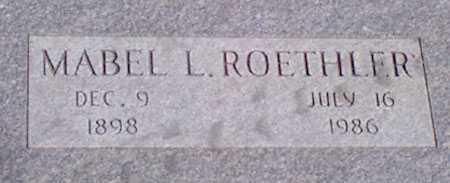 ROETHLER, MABEL L. - Baker County, Oregon   MABEL L. ROETHLER - Oregon Gravestone Photos