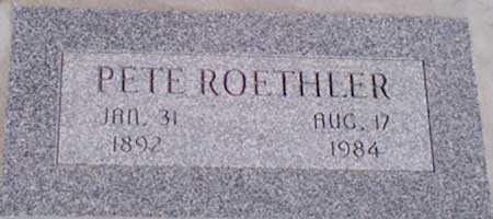 ROETHLER, PETE - Baker County, Oregon | PETE ROETHLER - Oregon Gravestone Photos