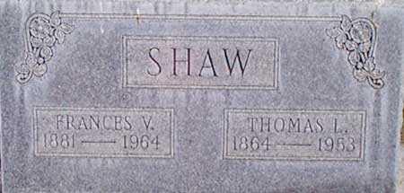 SHAW, FRANCES VIOLA - Baker County, Oregon | FRANCES VIOLA SHAW - Oregon Gravestone Photos