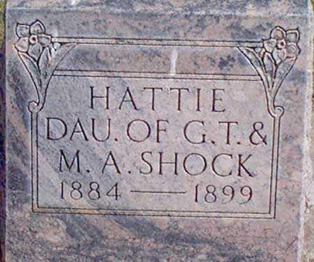 SHOCK, HATTIE - Baker County, Oregon | HATTIE SHOCK - Oregon Gravestone Photos