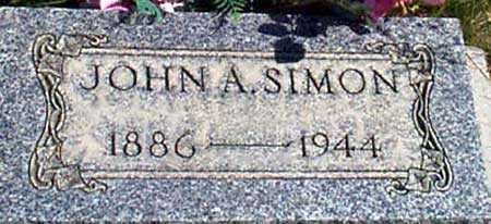 SIMON, JOHN ALFRED - Baker County, Oregon | JOHN ALFRED SIMON - Oregon Gravestone Photos