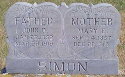TAYLOR SIMON, MARY ELIZABETH - Baker County, Oregon | MARY ELIZABETH TAYLOR SIMON - Oregon Gravestone Photos