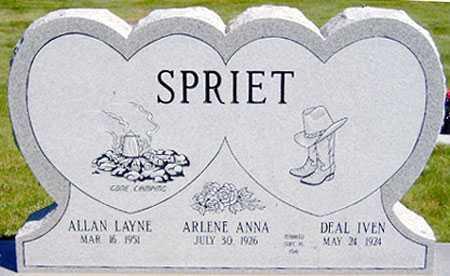 SPRIET, ARLENE ANNA - Baker County, Oregon | ARLENE ANNA SPRIET - Oregon Gravestone Photos