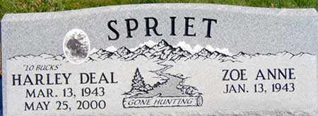 SPRIET, HARLEY DEAL - Baker County, Oregon | HARLEY DEAL SPRIET - Oregon Gravestone Photos