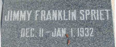 SPRIET, JIMMY FRANKLIN - Baker County, Oregon | JIMMY FRANKLIN SPRIET - Oregon Gravestone Photos