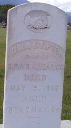 HEARING TIPTON, VIOLA E. - Baker County, Oregon | VIOLA E. HEARING TIPTON - Oregon Gravestone Photos