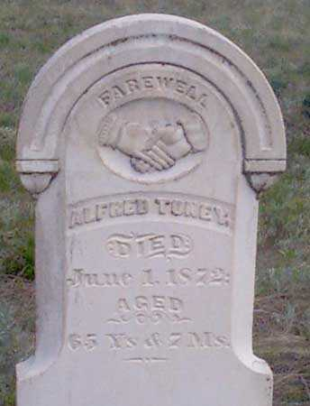 TONEY, ALFRED - Baker County, Oregon | ALFRED TONEY - Oregon Gravestone Photos