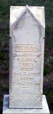 TONEY, BEULAH - Baker County, Oregon | BEULAH TONEY - Oregon Gravestone Photos