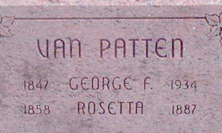 VAN PATTEN, GEORGE F. - Baker County, Oregon | GEORGE F. VAN PATTEN - Oregon Gravestone Photos
