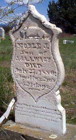 WAGY, NOBLE J. - Baker County, Oregon   NOBLE J. WAGY - Oregon Gravestone Photos