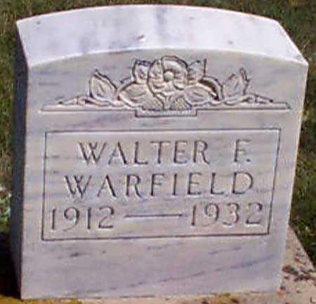 WARFIELD, WALTER FRANKLIN - Baker County, Oregon | WALTER FRANKLIN WARFIELD - Oregon Gravestone Photos