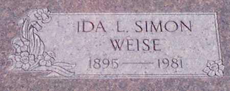 WEISE, IDA L. - Baker County, Oregon | IDA L. WEISE - Oregon Gravestone Photos
