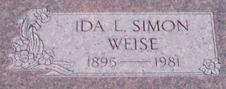 SIMON WEISE, IDA L. - Baker County, Oregon | IDA L. SIMON WEISE - Oregon Gravestone Photos