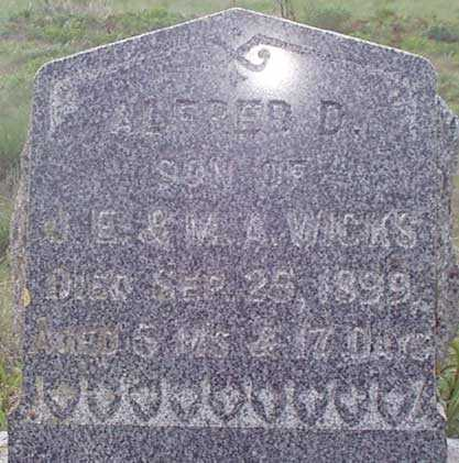 WICKS, ALFRED D. - Baker County, Oregon | ALFRED D. WICKS - Oregon Gravestone Photos