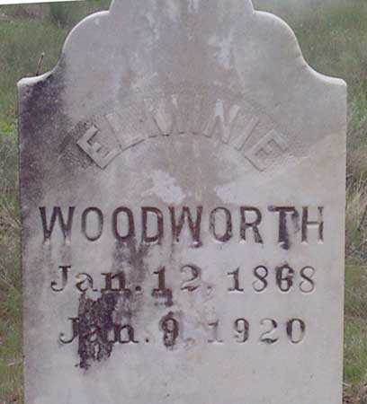 WOODWORTH, ELLA ELMINIE - Baker County, Oregon | ELLA ELMINIE WOODWORTH - Oregon Gravestone Photos