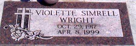 SIMRELL WRIGHT, VIOLETTE - Baker County, Oregon | VIOLETTE SIMRELL WRIGHT - Oregon Gravestone Photos