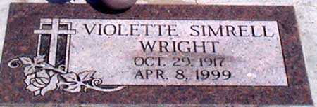 WRIGHT, VIOLETTE - Baker County, Oregon | VIOLETTE WRIGHT - Oregon Gravestone Photos