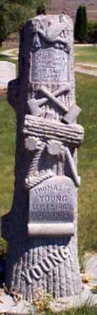 YOUNG, THOMAS G. - Baker County, Oregon   THOMAS G. YOUNG - Oregon Gravestone Photos