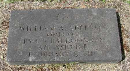 ABERSON, WILLIAM A - Benton County, Oregon   WILLIAM A ABERSON - Oregon Gravestone Photos