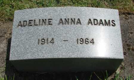 ADAMS, ADELINE ANNA - Benton County, Oregon | ADELINE ANNA ADAMS - Oregon Gravestone Photos