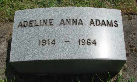 ADAMS, ADELINE ANNA - Benton County, Oregon | ADELINE ANNA ADAMS - Oregon Gravestone Photos