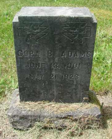 ADAMS, CORA B - Benton County, Oregon   CORA B ADAMS - Oregon Gravestone Photos