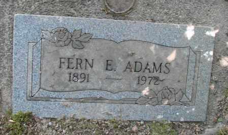ADAMS, FERN E - Benton County, Oregon | FERN E ADAMS - Oregon Gravestone Photos
