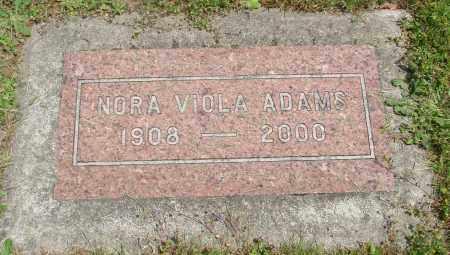 ADAMS, NORA VIOLA - Benton County, Oregon | NORA VIOLA ADAMS - Oregon Gravestone Photos