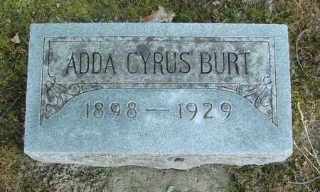 BURT, ADDA CYRUS - Benton County, Oregon | ADDA CYRUS BURT - Oregon Gravestone Photos