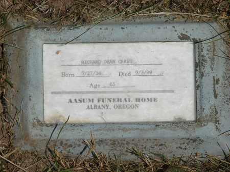 CRAIG, RICHARD DEAN - Benton County, Oregon   RICHARD DEAN CRAIG - Oregon Gravestone Photos