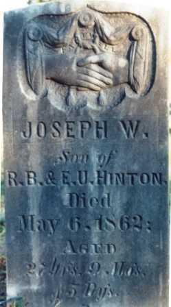 HINTON, JOSEPH WARREN - Benton County, Oregon | JOSEPH WARREN HINTON - Oregon Gravestone Photos