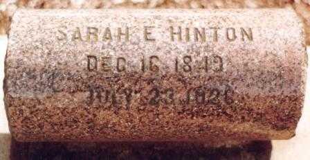 HINTON HINTON, SARAH EVOLINA - Benton County, Oregon | SARAH EVOLINA HINTON HINTON - Oregon Gravestone Photos