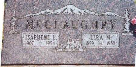 WRIGHT MCCLAUGHRY, ISAPHENE LAVERNE - Benton County, Oregon | ISAPHENE LAVERNE WRIGHT MCCLAUGHRY - Oregon Gravestone Photos