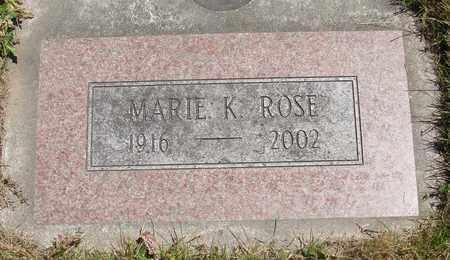ROSE, MARIE K - Benton County, Oregon | MARIE K ROSE - Oregon Gravestone Photos