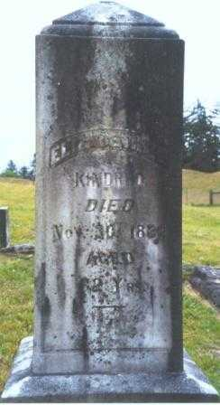 KINDRED, ELIZABETH M. - Clatsop County, Oregon | ELIZABETH M. KINDRED - Oregon Gravestone Photos