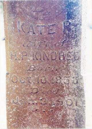 BACHALDER KINDRED, KATE P. - Clatsop County, Oregon | KATE P. BACHALDER KINDRED - Oregon Gravestone Photos