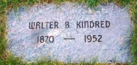 KINDRED, WALTER B. - Clatsop County, Oregon | WALTER B. KINDRED - Oregon Gravestone Photos