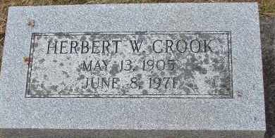 CROOK, HERBERT W - Curry County, Oregon | HERBERT W CROOK - Oregon Gravestone Photos