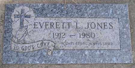 JONES, EVERETT I - Deschutes County, Oregon   EVERETT I JONES - Oregon Gravestone Photos