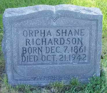 RICHARDSON, ORPHA SHANE - Deschutes County, Oregon   ORPHA SHANE RICHARDSON - Oregon Gravestone Photos