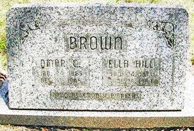 HILL BROWN, ELLA - Douglas County, Oregon   ELLA HILL BROWN - Oregon Gravestone Photos