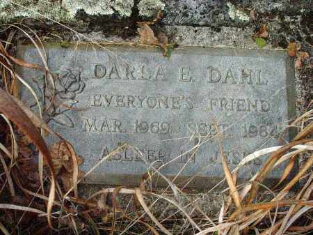 DAHL, DARLA E. - Douglas County, Oregon | DARLA E. DAHL - Oregon Gravestone Photos