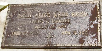 REED, RUTH ALICE - Douglas County, Oregon   RUTH ALICE REED - Oregon Gravestone Photos