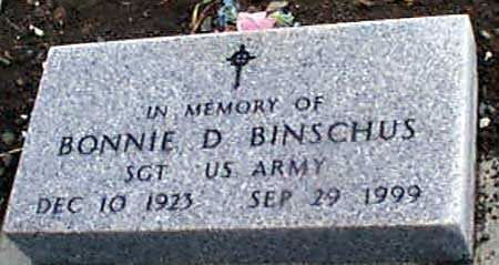 BINSCHUS, BONNIE D. - Grant County, Oregon | BONNIE D. BINSCHUS - Oregon Gravestone Photos
