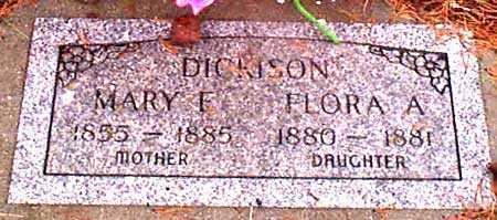 DICKISON, FLORA A. - Grant County, Oregon | FLORA A. DICKISON - Oregon Gravestone Photos