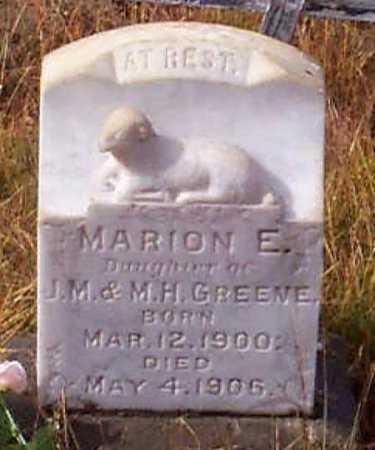GREENE, MARION E. - Grant County, Oregon | MARION E. GREENE - Oregon Gravestone Photos