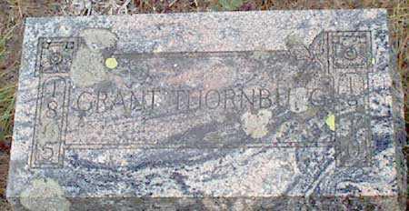THORNBURG, GRANT - Grant County, Oregon | GRANT THORNBURG - Oregon Gravestone Photos