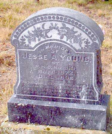 YOUNG, JESSE A. - Grant County, Oregon | JESSE A. YOUNG - Oregon Gravestone Photos