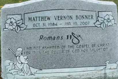 BONNER, MATTHEW VERNON - Klamath County, Oregon   MATTHEW VERNON BONNER - Oregon Gravestone Photos