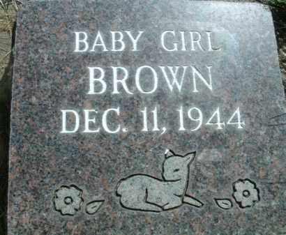 BROWN, BABY GIRL - Klamath County, Oregon | BABY GIRL BROWN - Oregon Gravestone Photos